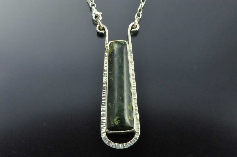 Pounamu pendant silver mounted pounamu pendants and earrings pounamu pendant silver mounted mozeypictures Gallery