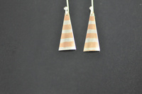 Copper and Silver Striped Earrings