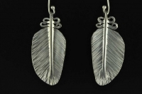 Kereru feather silver earrings