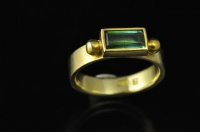 Green Tourmaline and 18ct gold ring