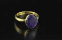 Sugilite and 18ct gold ring