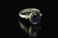 Amethyst, 22ct gold and Sterling silver ring