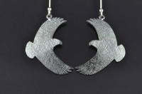 Kaka in flight silver earrings