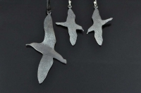Sooty Shearwater (Muttonbird or Titi) silver pendant and brooch