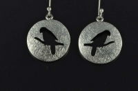 Kakapo silver earrings