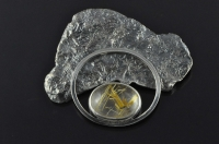 Storm Cloud with lightning silver brooch