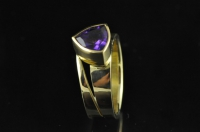 Amethyst and 18ct gold ring