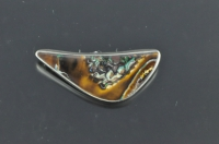 Yowah Boulder opal and Sterling silver brooch