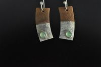 Copper, Silver and Chrysophrase Earrings