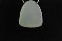 Siberian White Jade and Sterling silver Pendant