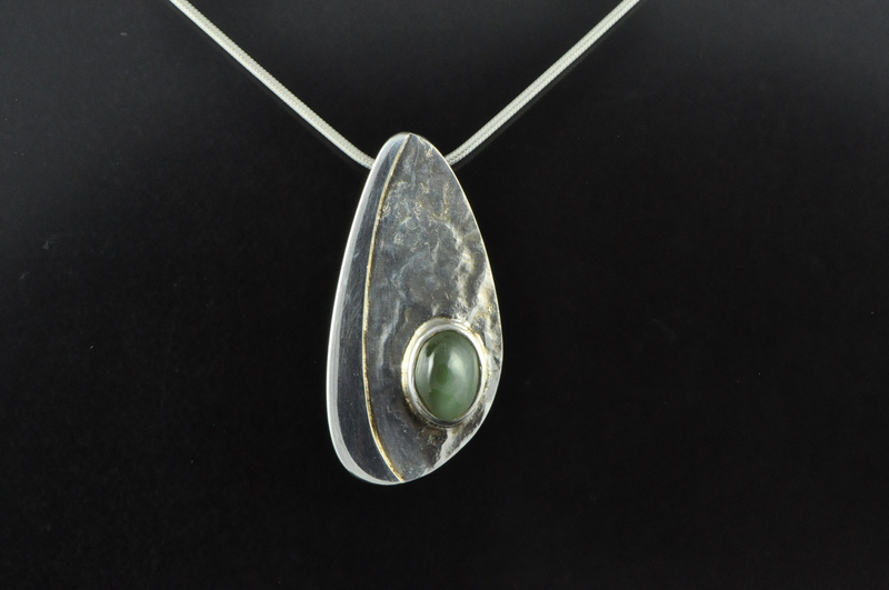 Chatoyant pounamu and silver pendant pounamu pendants and chatoyant pounamu and silver pendant mozeypictures Gallery
