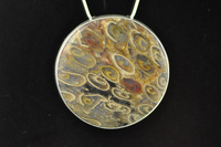 Fossil Treefern and silver pendant