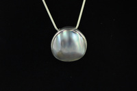 South Pacific Mabe white pearl pendant