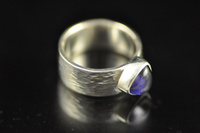 Iolite and silver ring
