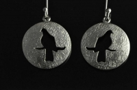 Kereru silver earrings