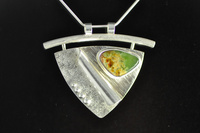 Marsden Pounamu and Sterling Silver Curvaceous Fabricated Pendant