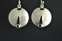Tsavorite Garnets and Reticulated Silver Earrings